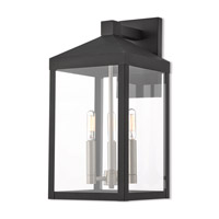 Nyack 3 Light 18 inch Black Outdoor Wall Lantern