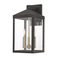 Nyack 3 Light 18 inch Bronze Outdoor Wall Lantern