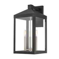 Nyack 3 Light 22 inch Black Outdoor Wall Lantern