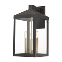 Nyack 3 Light 22 inch Bronze Outdoor Wall Lantern