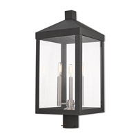 Livex 20586-04 Nyack 3 Light 24 inch Black Outdoor Post Top Lantern