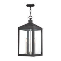 Nyack 3 Light 11 inch Black Outdoor Pendant Lantern
