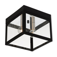 Livex 20588-04 Nyack 2 Light 8 inch Black Outdoor Ceiling Mount
