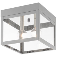 Livex 20588-80 Nyack 2 Light 8 inch Nordic Gray Outdoor Ceiling Mount