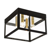 Nyack 4 Light 11 inch Bronze Outdoor Flush Mount