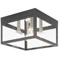 Livex 20589-76 Nyack 4 Light 11 inch Scandinavian Gray Flush Mount Ceiling Light