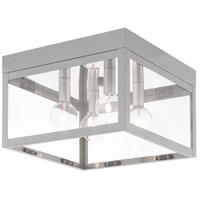 Livex 20589-80 Nyack 4 Light 11 inch Nordic Gray Outdoor Ceiling Mount