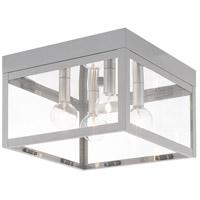 Livex 20589-80 Nyack 4 Light 11 inch Nordic Gray Flush Mount Ceiling Light