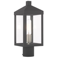 Livex 20590-76 Nyack 1 Light 15 inch Scandinavian Gray Post Top Lantern