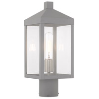 Livex 20590-80 Nyack 1 Light 15 inch Nordic Gray Post Top Lantern
