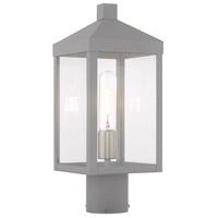 Livex 20590-80 Nyack 1 Light 15 inch Nordic Gray Post Top Lantern