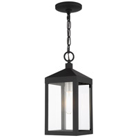 Livex 20591-04 Nyack 1 Light 6 inch Black with Brushed Nickel Cluster Outdoor Pendant Lantern