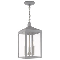 Livex 20593-80 Nyack 3 Light 8 inch Nordic Gray Pendant Lantern Ceiling Light