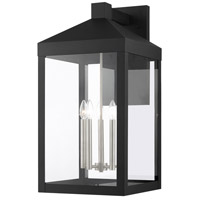 Livex Lighting 20598-04 Nyack 5 Light 29 inch Black with Brushed Nickel Cluster Outdoor Wall Lantern