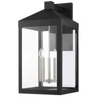 Livex Lighting 20598-04 Nyack 5 Light 29 inch Black with Brushed Nickel Cluster Outdoor Wall Lantern alternative photo thumbnail