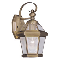 Livex Lighting Georgetown 1 Light Outdoor Wall Lantern in Antique Brass 2061-01