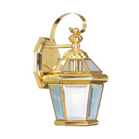 Livex Georgetown 1 Light Outdoor Wall Lantern in Polished Brass 2061-02