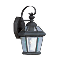 Livex Lighting Georgetown 1 Light Outdoor Wall Lantern in Black 2061-04 photo thumbnail