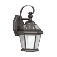 Livex 2061-07 Georgetown 1 Light 11 inch Bronze Outdoor Wall Lantern