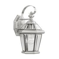 Livex Lighting Georgetown 1 Light Outdoor Wall Lantern in Brushed Nickel 2061-91