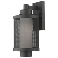 Livex 20682-14 Nottingham 1 Light 15 inch Textured Black Outdoor Wall Lantern