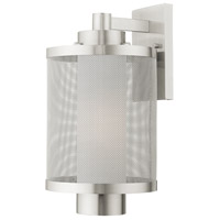 Livex 20683-91 Nottingham 1 Light 17 inch Brushed Nickel Outdoor Wall Lantern