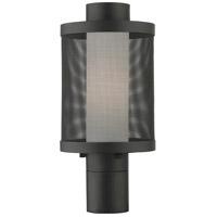 Livex 20684-14 Nottingham 1 Light 15 inch Textured Black Outdoor Post Top Lantern