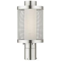 Livex 20684-91 Nottingham 1 Light 15 inch Brushed Nickel Outdoor Post Top Lantern