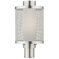 Livex 20686-91 Nottingham 1 Light 18 inch Brushed Nickel Outdoor Post Top Lantern