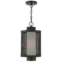 Livex 20687-14 Nottingham 1 Light 9 inch Textured Black Outdoor Pendant Lantern