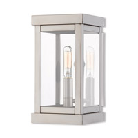 Livex 20701-91 Hopewell 1 Light 9 inch Brushed Nickel Outdoor Wall Lantern