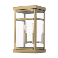 Livex 20702-01 Hopewell 2 Light 13 inch Antique Brass Outdoor Wall Lantern