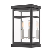 Livex 20702-04 Hopewell 2 Light 13 inch Black Outdoor Wall Lantern