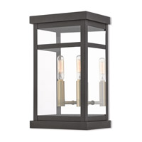 Livex 20702-07 Hopewell 2 Light 13 inch Bronze Outdoor Wall Lantern
