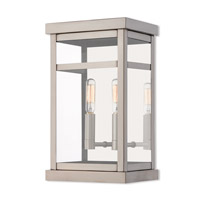Livex 20702-91 Hopewell 2 Light 13 inch Brushed Nickel Outdoor Wall Lantern