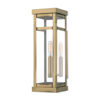 Livex 20703-01 Hopewell 1 Light 15 inch Antique Brass Outdoor Wall Lantern