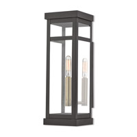 Livex 20703-07 Hopewell 1 Light 15 inch Bronze Outdoor Wall Lantern