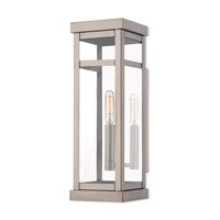 Livex 20703-91 Hopewell 1 Light 15 inch Brushed Nickel Outdoor Wall Lantern