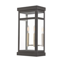 Livex 20704-07 Hopewell 2 Light 18 inch Bronze Outdoor Wall Lantern