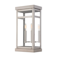 Livex 20704-91 Hopewell 2 Light 18 inch Brushed Nickel Outdoor Wall Lantern