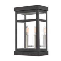 Livex Lighting 20705-04 Hopewell 2 Light 15 inch Black Outdoor Wall Lantern