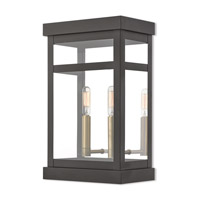 Livex 20705-07 Hopewell 2 Light 15 inch Bronze Outdoor Wall Lantern