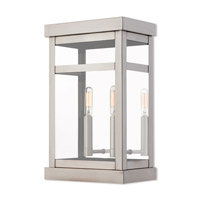 Livex 20705-91 Hopewell 2 Light 15 inch Brushed Nickel Outdoor Wall Lantern