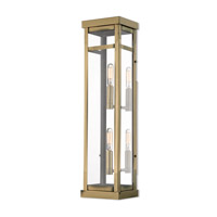 Livex 20706-01 Hopewell 2 Light 22 inch Antique Brass Outdoor Wall Lantern