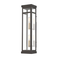 Livex 20706-07 Hopewell 2 Light 22 inch Bronze Outdoor Wall Lantern