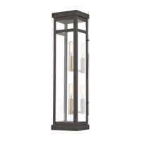 Livex 20706-07 Hopewell 2 Light 22 inch Bronze Outdoor Wall Lantern