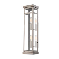 Livex Lighting 20706-91 Hopewell 2 Light 22 inch Brushed Nickel Outdoor Wall Lantern