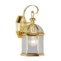 Livex Limited 1 Light Outdoor Wall Lantern in Polished Brass 2071-02