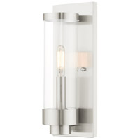 Hillcrest 1 Light 12 inch Brushed Nickel Wall Lantern