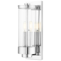 Hillcrest 2 Light 16 inch Polished Chrome Wall Lantern